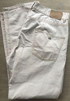 Lacoste Euro 50 Flat Front Casual Pants Men's Sz W40 L33 Cotton Beige | eBay
