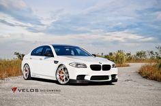 Bmw f10 white retuned