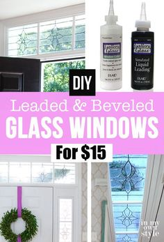 People always ask me how did you do that? If you like beveled glass windows but can't afford to replace what you have. I created the look of leaded and beveled glass on the sidelights by my front door that have stood the test of time. It was using a craft product called Gallery Glass. I never thought it would last long, but it is going on 20 years.  It is super easy to do.