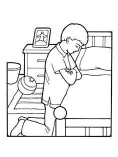 lds boy praying coloring page images pictures