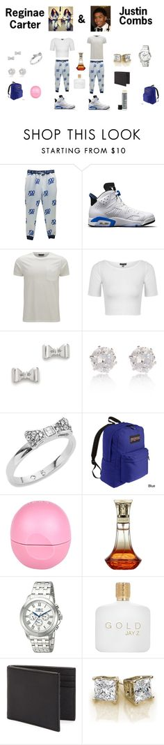 """""""couple outfit"""" by arie-boi on Polyvore featuring NIKE, Belstaff, Topshop, Marc by Marc Jacobs, River Island, Kate Spade, JanSport, Invicta, Jack Spade and Ultraluxe"""