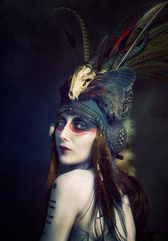 Model: Anoush Anou Makeup/Body paint: Jacqueline Kalab - Makeup & Hair Headdress: Genevieve Amelia (Shunyata) Photographer: Alf Caruana