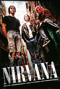 Nirvana Alley – Poster - Canvas Print - Wooden Hanging Scroll Frame