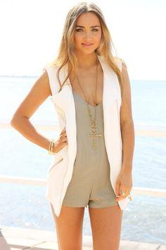 Sabo Skirt Noelle Vest - White