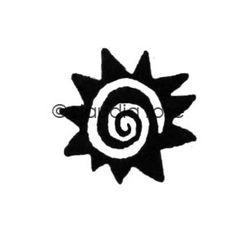 Hot Sun - CR117D - Rubber Art Stamp