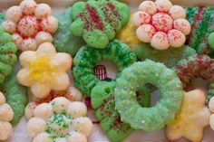 Spritz Cookies - a simple, buttery delicious cookie that is as much fun to make as it is to eat!