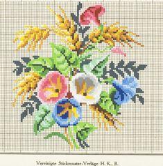 Stara šema.HKB Cross Stitch Rose, Cross Stitch Flowers, Cross Stitch Embroidery, Cross Stitch Patterns, Minnie Baby, Seasonal Flowers, Dinners For Kids, Needlepoint, Needlework