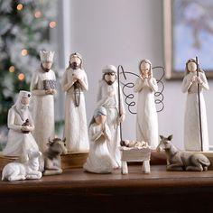 Cream Full Nativity Scene, Set of 11 from Kirkland's Diy Christmas Reindeer, Christmas Nativity Scene, Christmas Scenes, Christmas In July, Christmas Crafts, Christmas Decorations, Christmas Printables, Christmas Stuff, Christmas Ideas