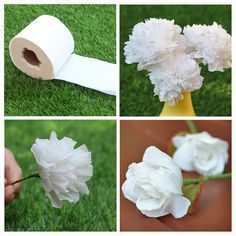 How to Make Flowers with Tissue Paper How to Make Flowers with Tissue Paper How to Make Tissue Paper Flowers Four WaysHow to Make Giant Paper Flowers. Step by Step TutoDIY Giant Paper Flowers Tutorial Toilet Paper Flowers, Tissue Flowers, Paper Flowers Craft, How To Make Paper Flowers, Crepe Paper Flowers, Flower Crafts, Diy Flowers, Tissue Paper Roses, Making Tissue Paper Flowers