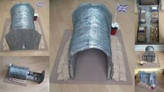Model of a WWII Air Raid Shelter. My daughter made this model of a WWII Air Raid Shelter for a School Project. School Projects, Projects For Kids, History Projects, World War 2 Display, Anderson Shelter, Childrens Christmas Crafts, Bomb Shelter, Make Do And Mend, History For Kids