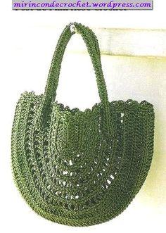 Otra cartera… también en color verde   Mi Rincon de Crochet  pattern