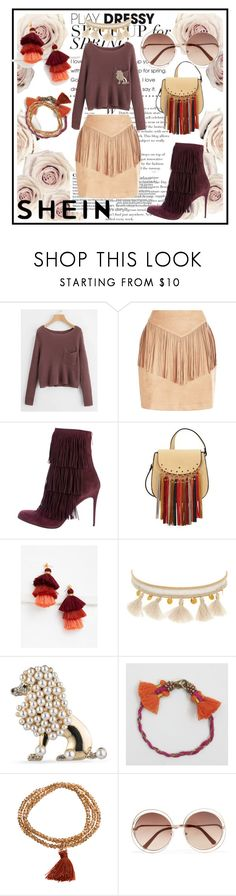 """SHEIN CONTEST"" by lakisha-34 ❤ liked on Polyvore featuring Paul Andrew, Mellow World, WithChic, Chan Luu, Carolee, BillyTheTree and Chloé"