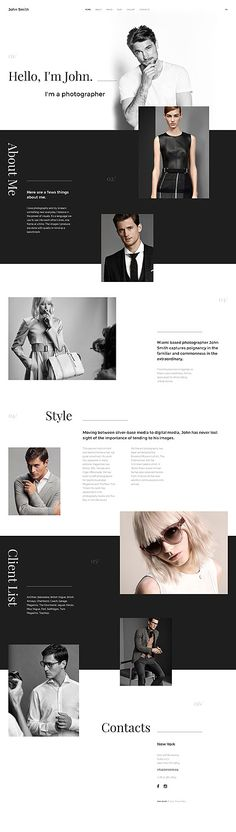 Looking for a stylish and functional web portfolio? Try this personal page Joomla theme with minimalist aesthetics, powerful modules, and SEO-friendly design. Website Web, Website Layout, Web Layout, Web Design Tips, Web Design Inspiration, Page Design, Web Portfolio, Personal Portfolio, Template Portfolio