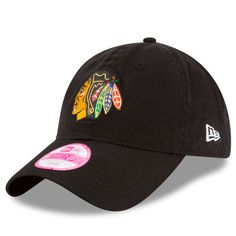 Chicago Blackhawks New Era Women's Team Glisten 9TWENTY Adjustable Hat - Black
