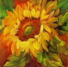 youtube how to paint sunflowers in acrylics - Google Search