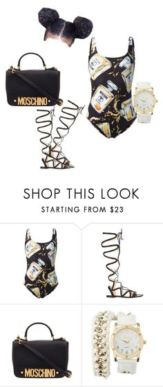 """""""swim wear"""" by offically-tri1l on Polyvore featuring Moschino, Gianvito Rossi and Charlotte Russe"""