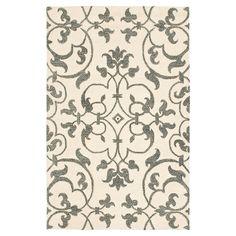 "Ivory/Grey Botanical Tufted Accent Rug - (3'6""X5'6"") - Safavieh, White"