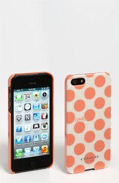 COACH 'Polka Dot' iPhone 5 Case | Nordstrom