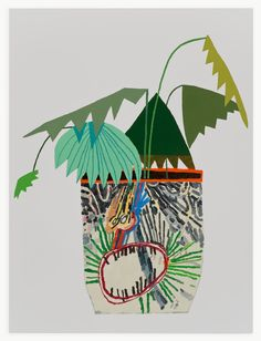 Jonas Wood Collaboration Appropriation, 2013 Oil and acrylic on linen x Plant Illustration, Botanical Illustration, Jonas Wood, Collages, Contemporary Art Daily, Art Archive, Illustrations And Posters, Nature Illustrations, Urban Art