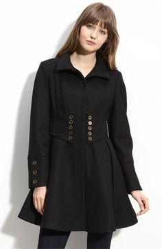 Betsey Johnson Military Style Coat -- A cute way to interpret the military trend (Nordstrom)