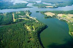 Krzyż Jezior Wdzydzkich z lotu ptaka/ Wdzydze lake's cross from bird eye #landscape #lake Baltic Sea, Land Scape, Poland, Folk, River, Bird, Eyes, Places, Outdoor