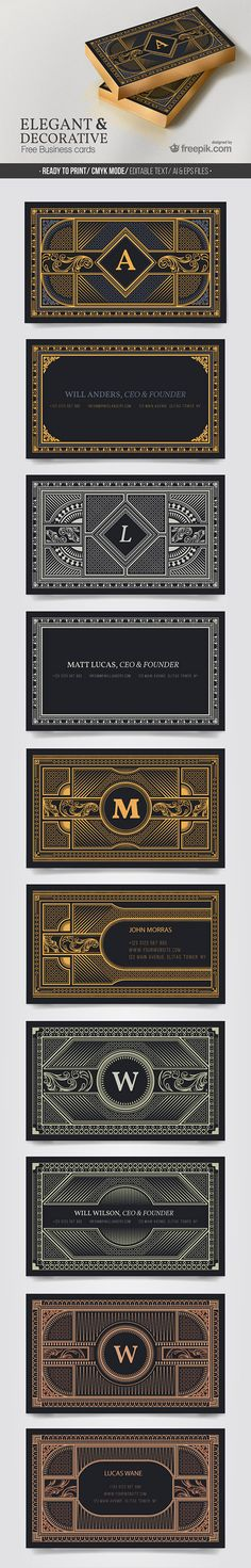 Elegant & Decorative Business Cards Set