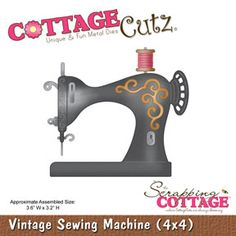 Cottage Cutz - Die - Vintage Sewing Machine,$19.95