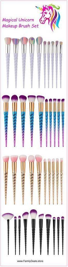 """""""Rainbow Unicorn Lashes""""  Unicorn Makeup Brush Set #lashesmakeup"""