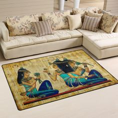 Yochoice Non-slip Area Rugs Home Decor, Ancienl Egyptian Woman Floor Mat Living Room Bedroom Carpets Doormats 60 x 39 inches *** Visit the image link more details. (This is an affiliate link and I receive a commission for the sales)