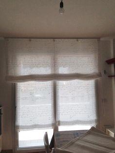 Tenda oscurante a soffitto con pendenza mansarda for Tende con scritte