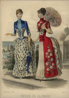 LA REVUE DE LA MODE  ... dated August 9, 1885