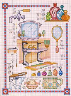 cross stitch - ladies' items - bagno_2