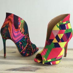 Peep Toe Stiletto Booties