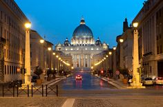 Rome at dusk. Seriously, one of my favorite places....