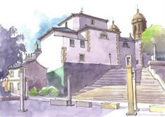 Urban Sketchers Spain. He is drawing drawing the world.