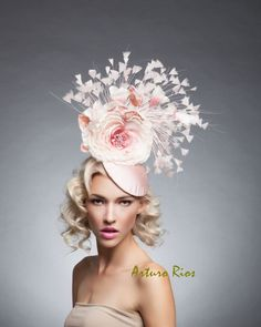 d4a92f4280f Fabulous Finds from ETSY - Pink Rose Derby Hat Etsy Shop  ArturoRios So  many charming