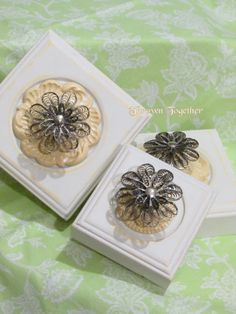 Decorative Wall Hooks 3pc. Set Yellow Shabby by ThrownTogether, $43.00
