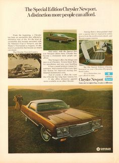 The 1973 Chrysler Newport Special Edition had plenty of style to offer. www.zimmermotors.com