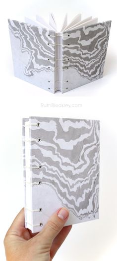 Japanese Marbled Paper,  Suminagashi Journal by Ruth Bleakley