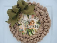 St Patrick's day wreath Luck of the Irish by ChloesCraftCloset