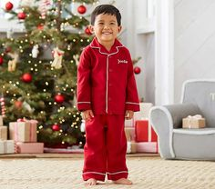 Red Flannel Pajama + 39 other adorable Christmas Jammies for Kids