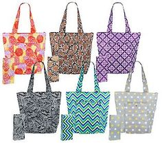 Sachi Set of 6 Insulated Market Totes. Love.