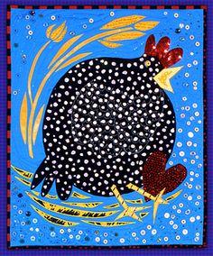 Betsy Cannon: Art Quilts - Gallery 1  idée: à tester avec une assiette en carton