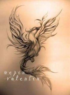 Tattoo lotus flower back pictures 34 Ideas #tattoo Phoenix Tattoo Feminine, Small Phoenix Tattoos, Phoenix Tattoo Design, Small Tattoos, Tattoo Phoenix, Phoenix Art, Phoenix Design, Neue Tattoos, Body Art Tattoos