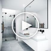 Lavabo de salle de bain rectangulaire VIGO en pierre matte ...