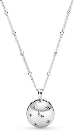 New Pandora Jewelry - Adjustable Moon and Star Necklace in Sterling Silver with . - New Pandora Jewelry – Adjustable moon and star necklace made of sterling silver with … – New - Diy Jewelry Necklace, Gold Bar Necklace, Star Necklace, Lariat Necklace, Moon Necklace, Necklace Online, Jewelry Box, Fine Jewelry, Jewelry Necklaces