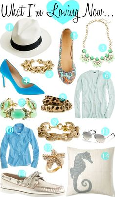Coastal Living... I like how they mixed nautical with animal prints, sparkle, etc. This may have me rethinking how I pack for my next cruise or seaside vacation.