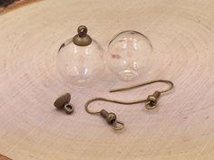 Glass Globe Earrings Glass Orb Earrings by MillpondJewelryCo