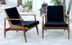 LAWRENCE PEABODY Vintage DANISH MODERN Mid Century LOUNGE CHAIRS Nemschoff Eames