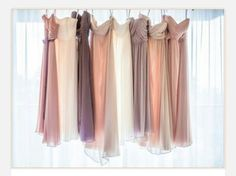 mismatched neutral bridesmaid dresses for fall - Google Search